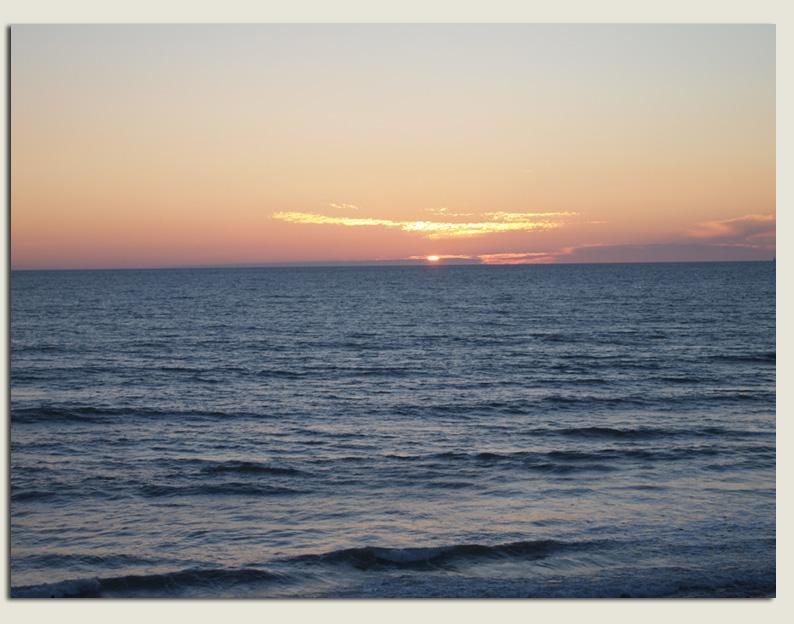 Las puestas de sol son maravillosas